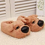NVSRZTX Cartoon Cute Shar Pei Couple Warm Shoes Womens Mens Slippers Memory Foam Comfort Fuzzy Plush Lining Slip on House Shoes Indoor Outdoor,44