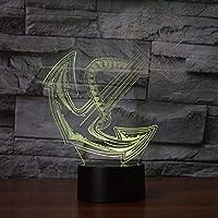 3DLedランプクリエイティブアンカー3DLedナイトライトノベルティイリュージョンナイトランプ16色おむつ交換台ランプホームデコラティブ