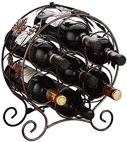 ZJZ Estante para Vino Botellas de Vino Estante para Vino Estante para Almacenamiento de Botellas Adornos de Hierro Forjado Estante para Botellas Estante para Vino pequeño, 31 * 15.5 * 44cm