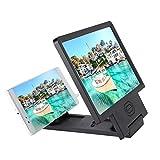 VBESTLIFE Magnifier dello Schermo, Amplificatore dello Schermo del Telefono Mobile HD Video Magnifier Bracket, ingranditore dello Schermo con l'altoparlante, per Smartphone(Nero)