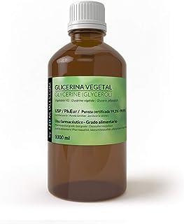 Essenciales - Glicerina Vegetal USP/Ph.Eu, Pureza Certificada, 1 Litro (1,26 Kgs) | Glicerina Vegetal USP/Ph.Eur VG Base