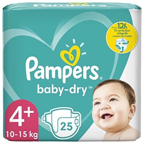 Pampers Baby-Dry Größe 4+, 25 Windeln, bis zu 12 Stunden Schutz, 10-15kg