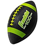 Franklin Sports Grip-Rite 100 Rubber Junior Football - Available in Single Ball or 6 Pack