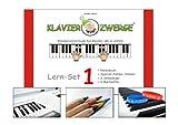 Klavier lernen - Klavierzwerge Lern Set 1 beinhaltet: Notenbuch 1 inkl. Zubehör | Klavierspielen mit Freude erlernen | Klavierschule mit Notenheft für Kinder ab 4 Jahren sowie Anfänger...