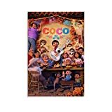 SSKJTC Modern Canvas Wall Art Cartoon Coco Movies Miguel Family Play The Guitar Poster Canvas Wall Art One Panel 40 x 60 cm