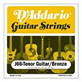 D'Addario J66 - Set de cuerdas para ukelele, dulcémele, guitarra tenor y laúd...