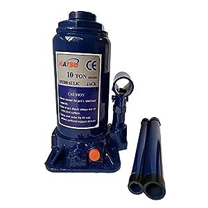 Gato hidráulico de botella Katsu 161120A Soporte de elevación resistente de 10 toneladas para vehículos pequeños o grandes