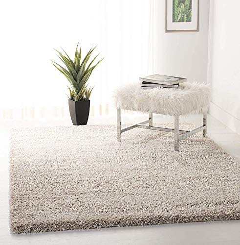 Safavieh California Premium Shag Collection SG151-1313 Beige Area Rug (4' x 6')