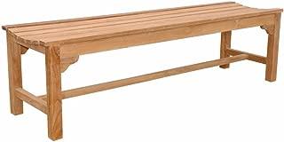 Anderson Teak BH-067B - No Cushion Hampton 3-Seater Backless Bench