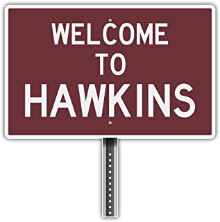 SkyLabel Welcome to Hawkins Bumper Sticker Vinyl Art Decal for Car Truck Van Wall Window (10'' X 10'')