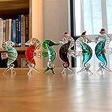 ABCBCA Colorido del Vidrio cristalino del Animal de mar Hippocampus Figuras en Miniatura miniaturas soplado Moderna decoración del hogar Mano (Color : Set of 6)