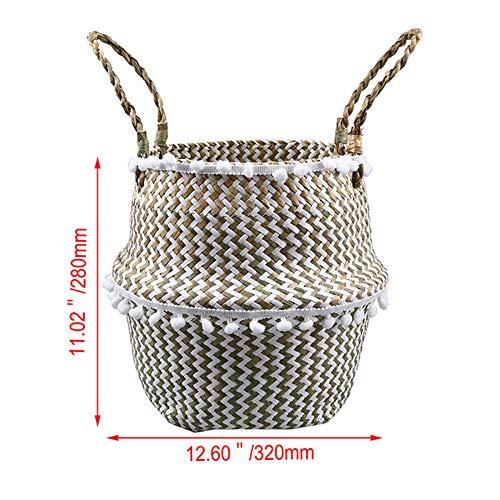 WQINSHOE Household foldable dirty laundry basket, toy storage bag, laundry storage bag, elegant wicker basket, flower pot