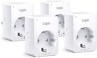 TP-Link Tapo P100 4-pack - WiFi Enchufe Inteligente Mini tamaño para Controlar su Dispositivo Desde Cualquier Lugar, sin Necesidad de Concentrador, Funciona con Amazon Alexa y Google Home e IFTTT