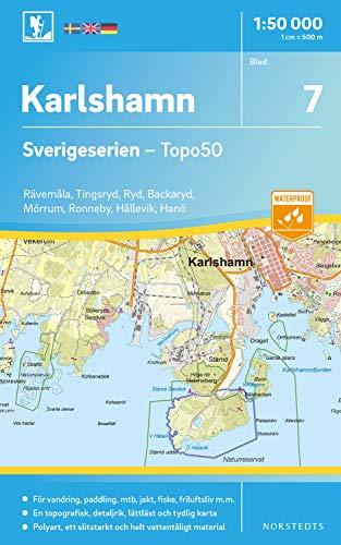 7 Karlshamn Sverigeserien Topo50 : Skala 1:50 000