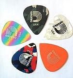The Guitar Shop Daddario duralin precision pick various color and thickness 5 pieces