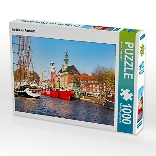 CALVENDO Puzzle Emden am Ratsdelft 1000 Teile Lege-Größe 64 x 48 cm Foto-Puzzle Bild von Andrea Dreegmeyer