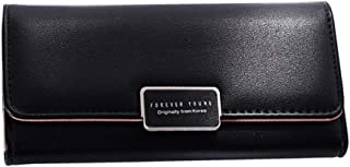 Pusaman The Women's Clutch, high-Capacity Wallet Card Package (Color : Black, Size : 19 * 9.5 * 3CM)