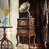 ZSMLB Hi-Fi Audio para hogar Bronce Vintage Clásico Retro Antiguo fonógrafo Gramófono Tocadiscos Reproductor Discos Vinilo Altavoces estéreo