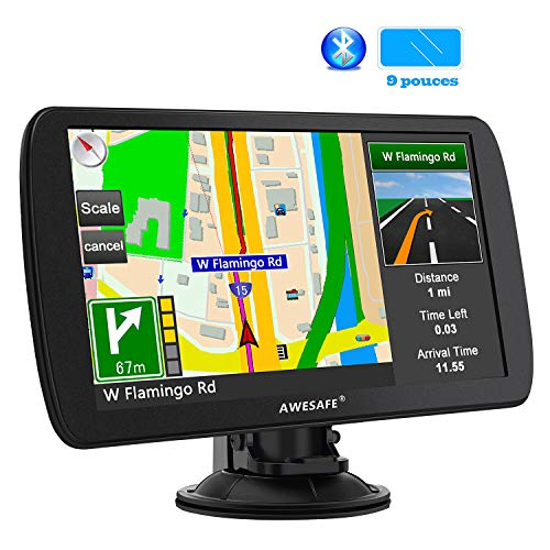 GPS 9 Pouces pour Voiture et Poids Lourds, Cartes de 48 Pays...