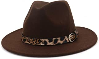 Lisianthus Women's Classic Wide Brim Felt Fedora Panama Hat