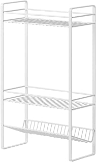Kitchen Storage Rack, All Purpose 3 Tier Metal Mesh Fruit Vegetable Rack, for Home Office Living Room Bedroom Bathroom (Co...
