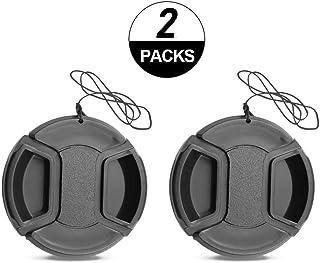 2 pack 52 mm centro pellizco lente tapa para Nikon D5500 D5300 D5200 D3200 con AF-S Nikkor 18-55mm lente/Canon m100/m3/m50 con EF-M 55-200mm EF-M 18-55mm lente