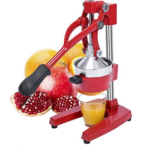 Gowintech Commercial Heavy Duty Cast Iron Hand Press Manual Orange Citrus Lemon Lime Grapefruit Pomegranate Fruit Juice Squeezer Machine Red