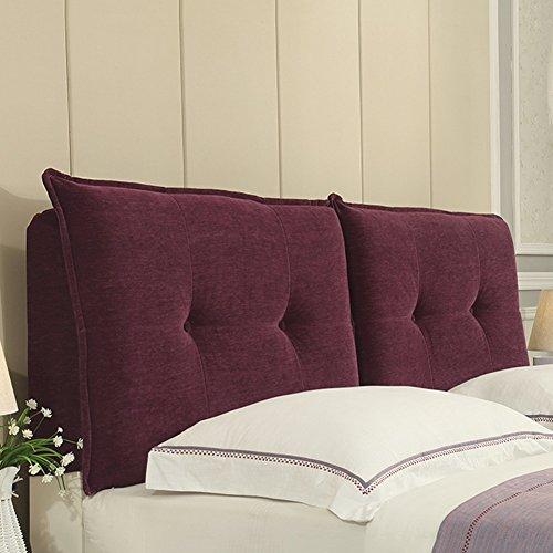 JXXDDQ Housse de chevet tête de lit couvre pour lit double grand dossier taille coussin tissu Art doux sac arrière oreiller pour chambre à coucher canapé, multifonction, éponge de remplissage, 5 coule
