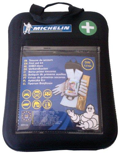 Michelin 92400 Verbandkasten nach DIN13164, mit 1-Hilfe-Sofortmaßnahmen, Softcase Gehäuse