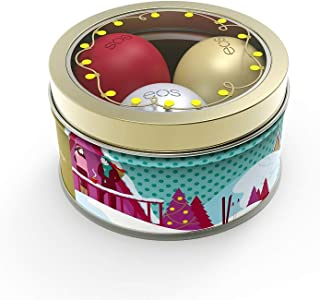 EOS Limited Edition Holiday 2018 Lip Balm Set of 3 - First Snow, Fireside Chai, Pomegranate Raspberry