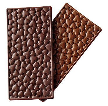 チョコレート型 板チョコ15.5cm Love Heart ハート BAR シリコン製 1枚取 シリコマートsilikomartオーブン冷凍兼用scg38