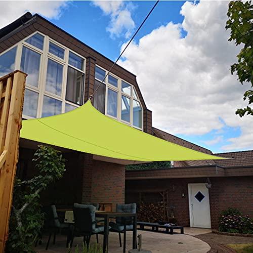 P-MM Shade Sail Poliéster Rectángulo Cuadrado Protección Solar Toldo de Lona Verde 300D Tejido Oxford Sombrilla Impermeable al Aire Libre (Size : 3.6 * 3.6m)