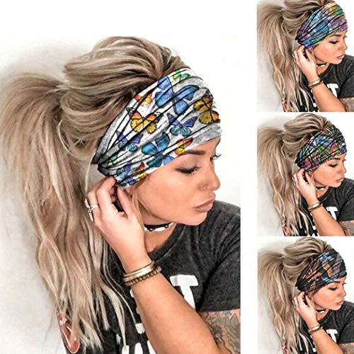 clasificación y comparación Sethexy Boho Wide Headband Wicking Hair bnad Elastic Head Wrap 4 Pea Turban… para casa