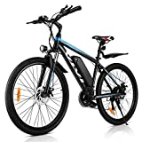 VIVI 26' Mountain Bike elettrica da 26' 250W 36V 36V 10.4Ah Batteria rimovibile Commuter Bike 25MPH 21 Speed Gears E-Bike per adulti (BLU)