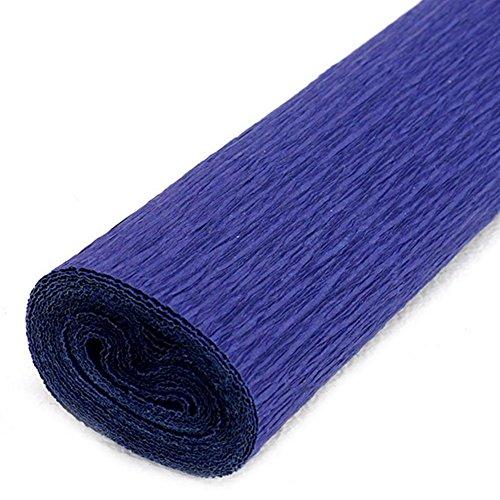 Rollo de papel crepé de Chytaii, para hacer flores de papel, decoraciones para cumpleaños, fiestas, bodas y festivales, de 50 cm x 2,5 m, azul oscuro, 50*250cm