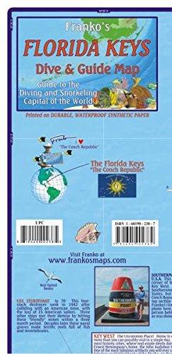 Florida Keys Guide Map and Fishcard: Tauch- und Schnorchel-Freizeitkarte