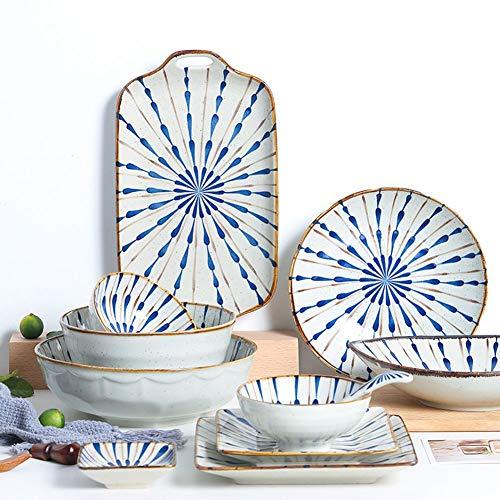 Schotel houlian shop bord in Japanse stijl voor thuis creatief onregelmatig avondeten bord vis pak van keramiek en windtextuur geperst