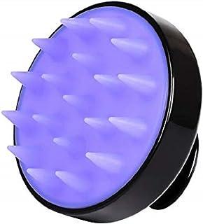 Siliscrub,Hair Scalp Massager,Scalp Shampoo Brush,Soft Silicon Brush Head Tourmaline Contained (Black)
