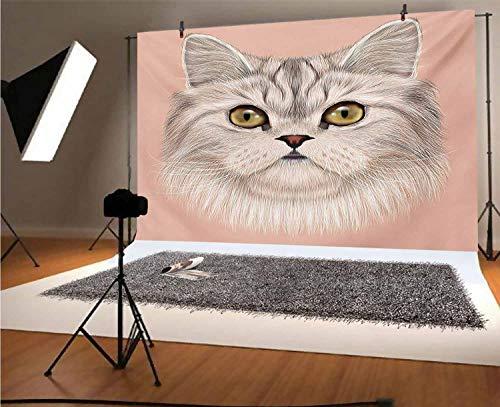 Telón de fondo de vinilo para fotografía de gato de 7 x...