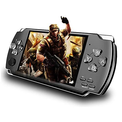 Handheld Spielkonsole,Retro Handheld Konsole 4,3 Zoll Handy Spiel Konsolen Spieler 10000 Spiele 32 Bit 8GB UnterstüTzung für PSP Spiele/Videos/E-Books, TV Games Maschinen für Kids Geschen Toys