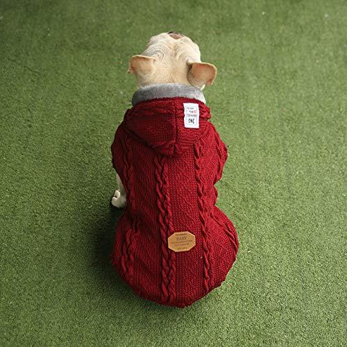 Ropa Para Perros Otoño / Invierno Lana Más Terciopelo Suministros De Ropa Para Mascotas XL Vino rojo
