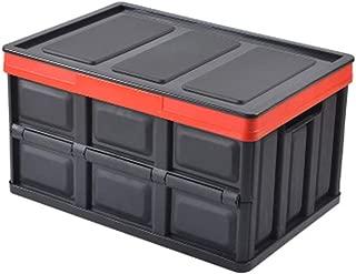 OFAY Car Storage Box Folding Green Plastic Multi-Function Double Layer Trunk Storage Box  Car Home Storage Black