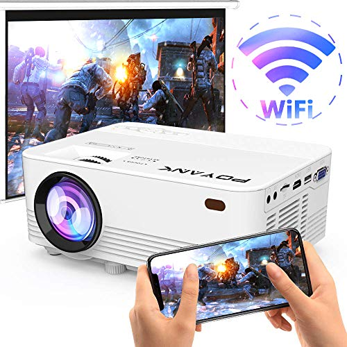 WiFi Projector - 3500Lumens Portable WiFi Projector Synchronize Smart Phone Screen, TV Stick, PS4, DVD Player Supported