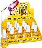 12 Bottle Display Big Bondini Plus All Purpose Brush On Nail Glue Adhesive 0.5oz by Big Bondini