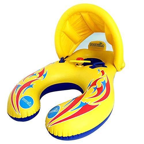 WANXJM Sombrilla y Anillo extraíble para Madre e Hijo, Juguetes, bañera, Piscina Interior al Aire Libre, Anillo de natación para Padres e Hijos con toldo