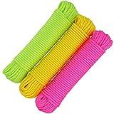 com-four® 3X 20m Cuerda Multiusos, cordón de...