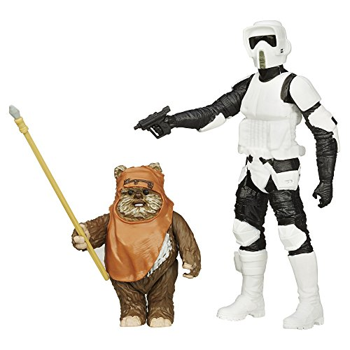 Star Wars Mission Series - Wicket W. Warrick und Biker Scout Figuren [UK Import]