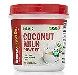 Bareorganics Coconut Milk Powder   Organic, Vegan, Non-GMO, Gluten-Free   Dairy Free, 8oz