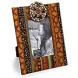 Truu Design Vibrant Picture Beautiful African Countertop Photo Frame, Brown