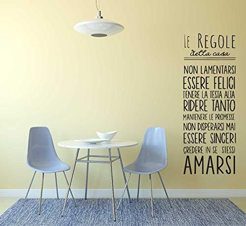 Adesivo murale con Le regole della casa adesivo murale decorativo per la casa, addobbo casa, rendere la casa unica Adesivo4You.com
